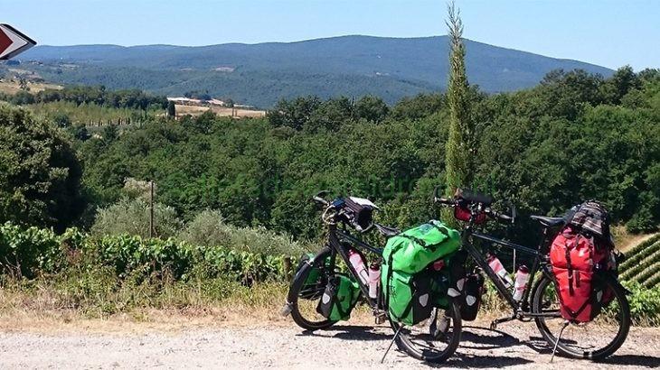 Fietsen door Toscane Italië -